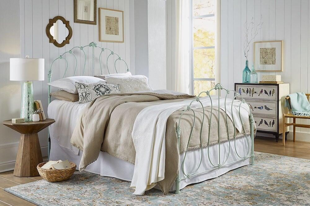 Windsor Raw Brass Bed, Open Foot Version